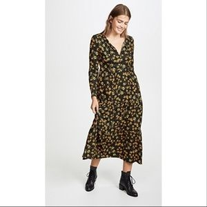 Free People Tiers of Joy Long Sleeve Floral Maxi